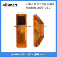 Quality Amber Solar Road Guardrail Warning Light Construction Column Stroboscopic Lamp Stormlight Stack Taillight Obstacle Lamp wholesale