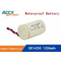 Cheap ER14250 3.6V 1.2Ah 1/2AA lithium battery for sale