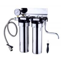 Quality Stainless Steel Countertop Water Filter 2 Stage , 5L / Minute Flow Rate Ss Water Filter wholesale