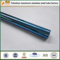 Cheap Foshan Factory 304 Royalblue Slotted Stainless Steel Tube for sale