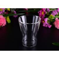 Quality Thermal And Cool Drinking Double Wall Glass Tea Cup / Clear Double Wall Tumbler wholesale