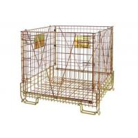 Quality Stackable Steel Galvanized Metal Wire Mesh Container For Storage wholesale
