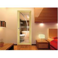 Buy cheap Toilet , Kitchen Glass Aluminium Doors / Decorative Double Glass Doors from wholesalers