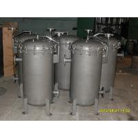 """Quality 5 Micron Stainless Steel Bag Filter Housing 10"""" For Paint , Mirror-polish wholesale"""