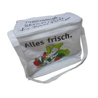 Quality Reusable White Nylon Thermal Insulated Bags With Aluminum Foil, White Zipper wholesale