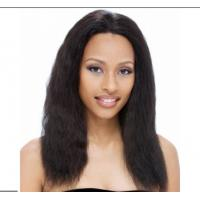 China Remy Straight Human Hair Wig With Baby Hair Around , glueless lace front wigs on sale