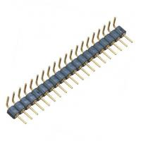 Quality WCON Round Pin Header / 1*20P Ninety Degrees 2.54 Mm Pin Connector wholesale