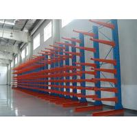 China Galvanized Industrial Cantilever Racks , Single / Double Side Outdoor Racking Systems on sale