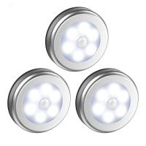 Quality LED Motion Sensor Led Under Cabinet Lights Dry Battery LED Night Light Motion Lamp 6leds PIR Body Motion Wall Ind wholesale
