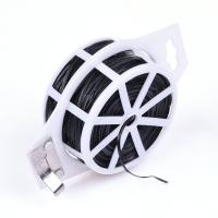 Quality Flexible PVC Coated Flat Garden Twist Wire Tie With Cut - To - Length Cutter wholesale