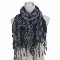 Quality 100% Viscose Crinkle Scarf, Weighs 80g wholesale