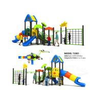 Quality Adventure Play Kids Playground Equipment , Commercial Playground Equipment Strong Safety wholesale
