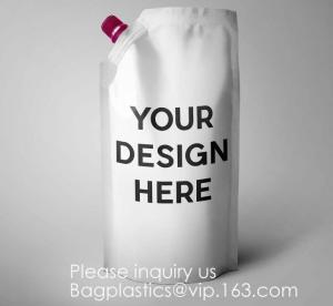Quality Liquor Pouches Drinking Flasks, Reusable Liquid Spout Bags, BPA Free, 3 32oz, 3 16oz, Collapsible Silicone Funnel Includ wholesale