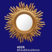 Quality 4026 Round Wall Hanging Bathroom Mirror with PU Frame wholesale