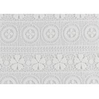 Quality Polyester Water Soluble Lace Fabric With Linear Lace Designs For Ladies Party Dress wholesale
