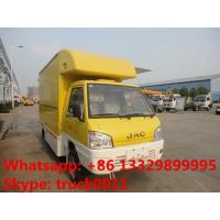 Quality JAC mini fast food truck,mobile food truck,fast food van 1.5 ton on sale, JAC brand gasoline ice-cream truck for sale wholesale