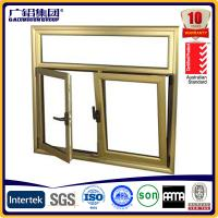 China Wood color Aluminium double glazed windows for tilt and turn aluminium window (Guang zhou) on sale