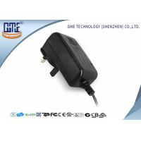 Quality Black Wall Mount AC To DC Power Adapter 24V 1A Intertek Flame retardant PC wholesale