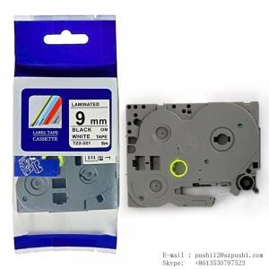 China Brother laminated tz tape 9mm*8m black on white TZ 221 TZE 221 tze221 on sale