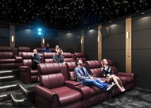 Quality Electric Leather Sofa Home Cinema System With Surround Speaker Subwoofer Projector For Movies wholesale