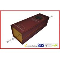 Quality Handmade Silver Printed 1400g Grey Board Wine Packaging Boxes , Magnetic Wine Gift Packaging Boxes wholesale