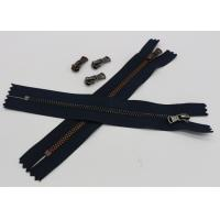 Quality Black Tape Extra Long Invisible Zipper , Women Dress Closed Ended Metal Zips wholesale