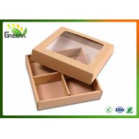 Quality Corrugated Custom Gift Boxes for Handmade Soap with Clear Window wholesale