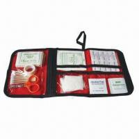 China 40 Pieces First Aid Kits, FDA and CE Certificates, Can Print Logo on Nylon Bag on sale