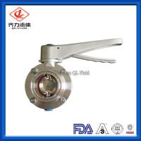 China Centre Sealing Pneumatic Butterfly Valve With Trigger Handle Clamp End B5101 Series on sale