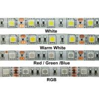 China Flexible 24V 5M 5050 RGB Waterproof Led Strip Lights IR Remote ROHS Certification on sale