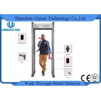 Quality 6 Zones LED Screen Portable Metal Detector Archway , Walk Through Security Scanners wholesale