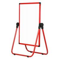 Quality Red Frame U Stand Mobile Magnetic Whiteboard Anti - Deform Performance wholesale