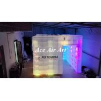 Quality giant 10ft advertising inflatable photo booth with led lights,inflatable cube booth tent with logo for wedding wholesale