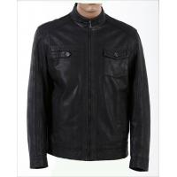 Cheap Size 46, Size 48, Casual and Designer, Fitted Young Mens Fleece Lined Leather Jacket for sale