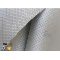 Cheap 220g Silver Plated Aluminized Fiberglass Cloth Fabric For Surface Decoration for sale