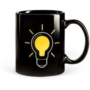 Quality SGS/ROHS/CE certifiction the change colors ceramic mug china the lamp bulb magic cup power mug wholesale