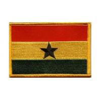Quality Custom 5cm*10cm, sew-on and plastic backing twill 100% embroidered flag patches wholesale