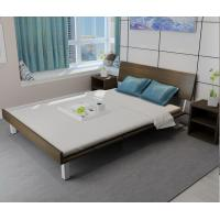 Cheap Mealmine board Simple double plate bed 1.8 meters in Nordic design adult bed 1.5m IKEA tatami single bed with Iron legs for sale