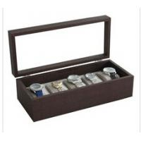Quality 5 slots unisex watch solid wood box Gift display box with glass window Big watch suitable wholesale