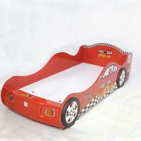 Quality Cartoon Bedroom / Kids Playroom Furniture Children Racing Car Bed With LED Lights wholesale