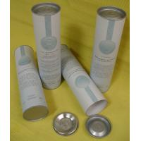 Quality Cylinder Tube Paper Board Wine Packaging Box with Tin Plate for Wine / Oil Bottle wholesale