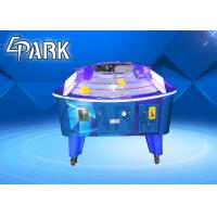 Curved Coin Operated Air Hockey Table With Fiber Glass And Plastic Cement