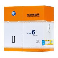 China Cat 6 Cable Pass Test Pure Copper 24awg 2pr 4pr 305m 1000ft 0.56 Utp Cat6 Indoor Cable on sale