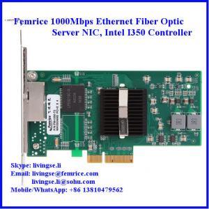 Quality 10/100/1000Mbps 2 Ports RJ-45 Connector Gigabit Ethernet Server NIC, Intel I350 Chipset wholesale