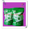 Quality Ziplock Bottom Gusset Plastic Bag Packaging , Green Tea Packaging Bag for sale