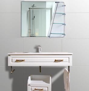 Quality Cosmetic Oval Anti - Fog Bathroom Wall Mirrors With Shelf 600mm × 800mm wholesale