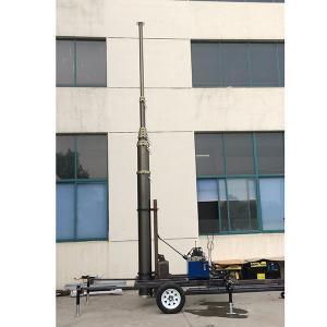 Quality 21m mobile telecommunicaiton tower mast hydraulic trailer system wholesale