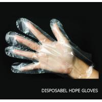 Quality Disposable HDPE / LDPE Plastic gloves transparent food gloves wholesale