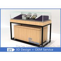 Quality Luxury Veneer Stain Steel Jewellery Shop Counter With Large Storage wholesale