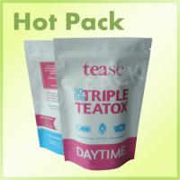Quality Top Zip Plastic Stand Up Pouch With Tear Notch , Personalised Biodegradable Tea Bags wholesale